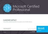 Microsoft Certified Proffesional