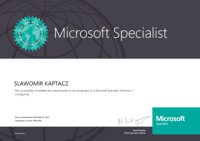 Microsoft Specialist: Windows 7, Configuring<br />Microsoft Certified Technology Specialist: Windows 7, Configuration